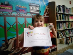 Good reading Brian! He received a certificate for reading 500 books!