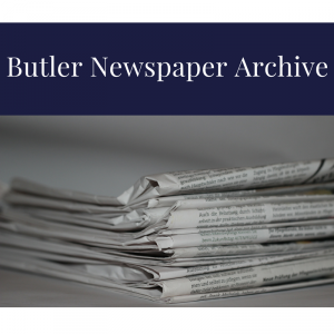 Logo for Butler Newspaper Archive